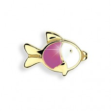 "Детские серьги Biojoux ""Baby  Pink Fish""  BJT708 Kids"