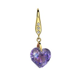 "Детские серьги Biojoux ""Purple Heart Pendant""  BJT723 Kids"