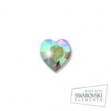 Серьги ТИТАН Biojoux BJ0251 Boreale Heart 5mm SWAROVSKI