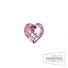 Серьги ТИТАН Biojoux BJ0254 Rosa Heart 5mm SWAROVSKI