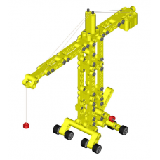 Конструктор Kiditec L-set  Showcrane big yellow 1217