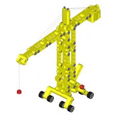 Детский конструктор Kiditec 1217 L-set Showcrane big yellow