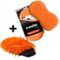 Губка + Перчатка e-Сloth для внешней уборки авто