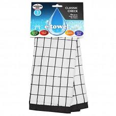 Полотенце e-cloth Classic Check Black 206908