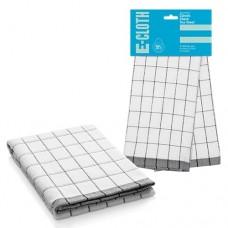 Полотенце кухонное e-cloth Classic Check Black 206908