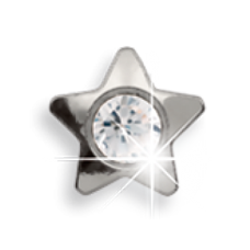 Серьги для прокола ушей EXXL Е118 Stella Cristallo