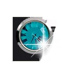 Серьги для прокола ушей EXXL Е133 Aquamarino