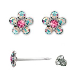 Серьги Inverness 120st Flower Crystal/Rosa TITANIUM