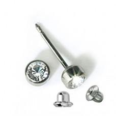 Серьги для прокола ушей Inverness 17 Bezel Crystal