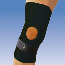 Фиксатор коленного сустава с ребрами жесткости TURBO-MED TM856 - GINOCCHIERA APERTA
