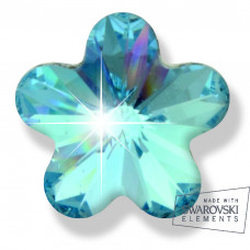 Серьги ТИТАН Biojoux BJ0563 Acquamarin Flower 6mm SWAROVSKI