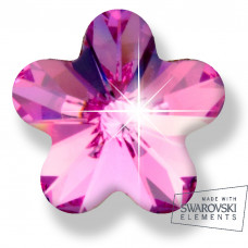 Серьги для ушей Biojoux BJ0564 Pink Flower 6mm SWAROVSKI