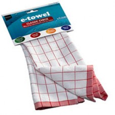 Полотенце кухонное e-cloth Classic Check Red 201699