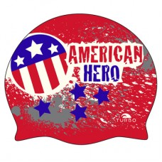 Шапочка для плавания Turbo American Hero Silicone 9701796